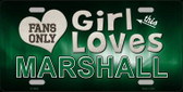 This Girl Loves Marshall Novelty Metal License Plate