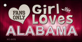 This Girl Loves Alabama Novelty Metal Key Chain
