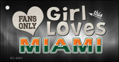 This Girl Loves Miami Novelty Metal Key Chain