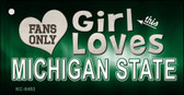 This Girl Loves Michigan State Novelty Metal Key Chain