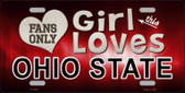 This Girl Loves Ohio State Novelty Metal License Plate