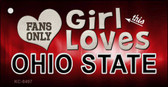 This Girl Loves Ohio State Novelty Metal Key Chain