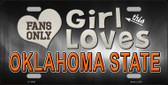 This Girl Loves Oklahoma State Novelty Metal License Plate