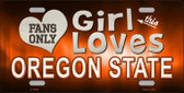 This Girl Loves Oregon State Novelty Metal License Plate