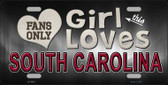 This Girl Loves South Carolina Novelty Metal License Plate