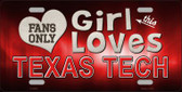 This Girl Loves Texas Tech Novelty Metal License Plate