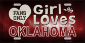 This Girl Loves Oklahoma Novelty Metal License Plate