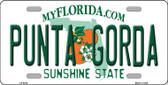Punta Gorda Florida Novelty Metal License Plate
