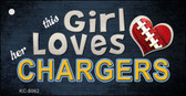 This Girl Loves Her Chargers Novelty Metal Key Chain