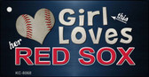 This Girl Loves Her Red Sox Novelty Metal Key Chain