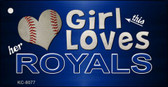 This Girl Loves Her Royals Novelty Metal Key Chain