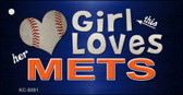 This Girl Loves Her Mets Novelty Metal Key Chain