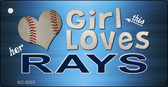 This Girl Loves Her Rays Novelty Metal Key Chain