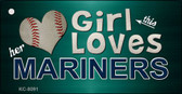 This Girl Loves Her Mariners Novelty Metal Key Chain