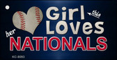 This Girl Loves Her Nationals Novelty Metal Key Chain