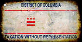 District Of Columbia Rusty State Background Novelty Metal Key Chain