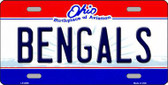 Bengals Ohio State Background Novelty Metal License Plate