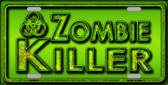 Zombie Killer Novelty Metal License Plate