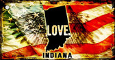 Indiana Love Novelty Metal Key Chain