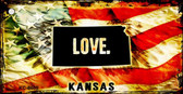 Kansas Love Novelty Metal Key Chain