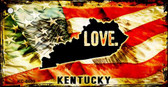 Kentucky Love Novelty Metal Key Chain