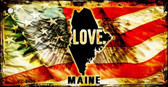 Maine Love Novelty Metal Key Chain
