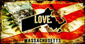 Massachusetts Love Novelty Metal Key Chain