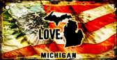 Michigan Love Novelty Metal Key Chain