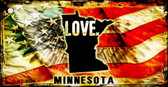Minnesota Love Novelty Metal Key Chain