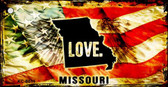Missouri Love Novelty Metal Key Chain