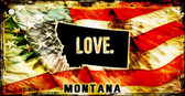 Montana Love Novelty Metal Key Chain