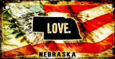Nebraska Love Novelty Metal Key Chain
