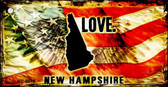 New Hampshire Love Novelty Metal Key Chain