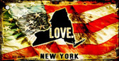 New York Love Novelty Metal Key Chain