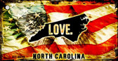North Carolina Love Novelty Metal Key Chain