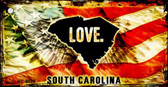 South Carolina Love Novelty Metal Key Chain