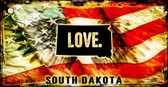 South Dakota Love Novelty Metal Key Chain