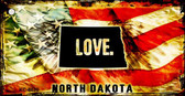 North Dakota Love Novelty Metal Key Chain