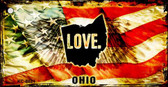Ohio Love Novelty Metal Key Chain