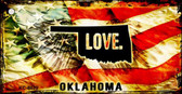 Oklahoma Love Novelty Metal Key Chain