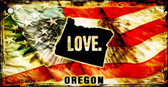 Oregon Love Novelty Metal Key Chain