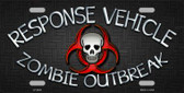 Response Vehicle Novelty Metal License Plate