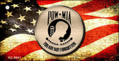 POW MIA With USA Flag Novelty Metal Key Chain