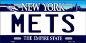 Mets New York State Background Metal Novelty License Plate