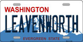 Leavenworth Washington Background Novelty Metal License Plate