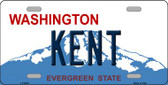 Kent Washington Background Novelty Metal License Plate