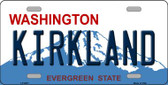 Kirkland Washington Background Novelty Metal License Plate