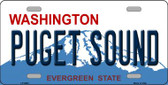 Puget Sound Washington Background Novelty Metal License Plate