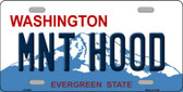 MNT Hood Washington Background Novelty Metal License Plate
