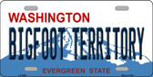 Bigfoot Territory Washington Background Novelty Metal License Plate